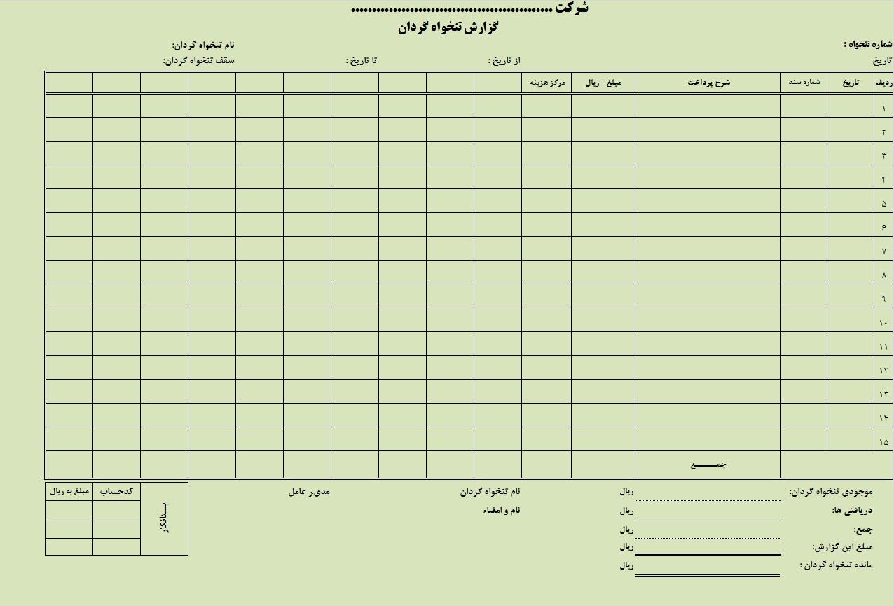 دانلود رایگان نمونه فرم حقوق و دستمزد آماده ورود اطلاعات