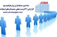 شماجزو حسابداران برترخواهیدبوداگر ازاین41فرصت شغلی جدیداستفاده کنید.